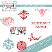 Amour SVG Cut Files #1