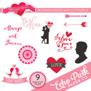 Blowing Kisses SVG Cut Files #1