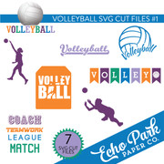 Volleyball SVG Cut Files #1