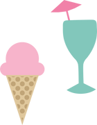 Ice Cream and Drink SVG Cut File