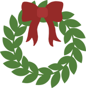 Wreath and Bow SVG Cut File