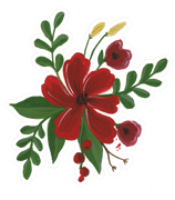 Christmas Flower Bunch SVG Cut File
