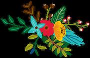 Jungle Flower Bunch SVG Cut File