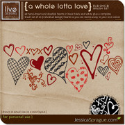 A Whole Lotta Love Rub-Ons & Brush Set