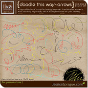Doodle This Way - Arrows Rub-Ons & Brush Set