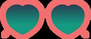 Heart Sunglasses SVG Cut File