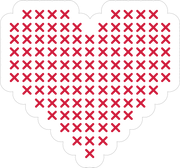 Cross Stitch Heart SVG Cut File
