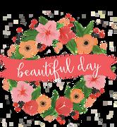 Beautiful Day Wreath SVG Cut File