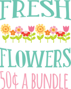 Fresh Flowers SVG Cut File
