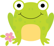 Flower and Frog SVG Cut File