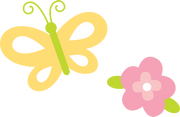 Butterfly and Flower SVG Cut File
