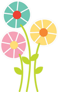 Three Spring Flowers SVG Cut File