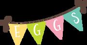 Eggs Banner SVG Cut File
