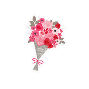 Valentine's Flower Bouquet SVG Cut File