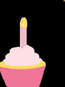 Birthday Girl Cupcake SVG Cut File