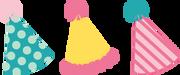 Party Hats SVG Cut File