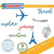 Passport SVG Cut Files #1