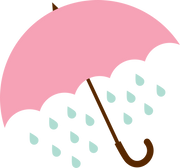 Umbrella and Rain SVG Cut File
