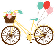 Bike with Balloons Print & Cut File
