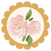 Flower Button SVG Cut File
