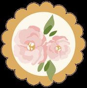Flower Button Print & Cut File