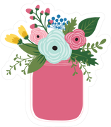 Flower Jar SVG Cut File
