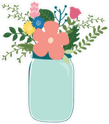 Flower Jar #2 SVG Cut File