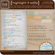 Highlight It Softly {Text Highlighters}