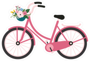 Bike with Flowers SVG Cut File