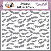 Creepy Bats Stencil