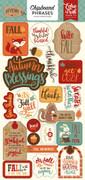 Celebrate Autumn Chipboard Phrases