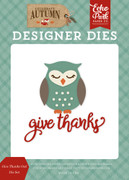 Give Thanks Owl Die Set