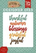Autumn Blessings Word Die Set