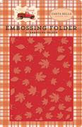 Fall Break Embossing Folder - Whisking Leaves