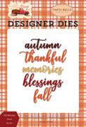 Fall Blessings Word Die Set
