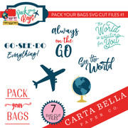 Pack Your Bags SVG Cut Files #1