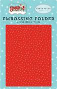 Santa's Workshop Embossing Folder - Whiteout