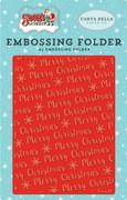 Santa's Workshop Embossing Folder - Merry Christmas Snowflake