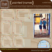 liv.edesigns Painted Frames add the perfect artistic touch to your creations!