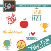 Back To School SVG Cut Files #1