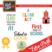 Back To School SVG Cut Files #2