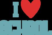 I Heart School SVG Cut File