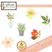 Welcome Home Print & Cut Files #1
