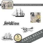 Transatlantic Travel Print & Cut Files #1
