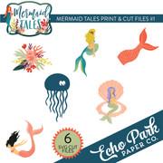 Mermaid Tales Print & Cut Files #1