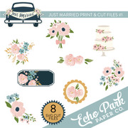 Just Married Print & Cut Files #1