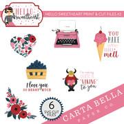 Hello Sweetheart Print & Cut Files #2