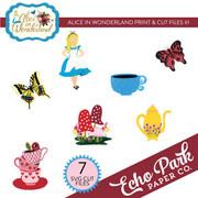 Alice In Wonderland Print & Cut Files #1