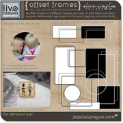 { liv.e simply collection vol.1 } Offset Frames