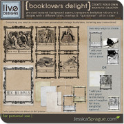 liv.edesigns Booklovers Delight - Create Your Own Bookplates!